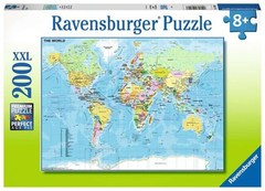 Puzzle Map of the World 200 pcs