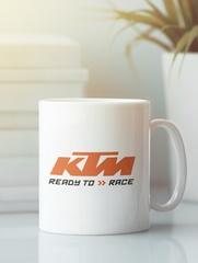Кружка с рисунком KTM (KTM AG) белая 002