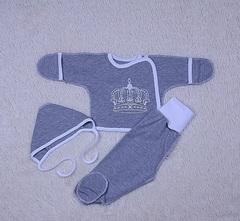 Набор на выписку из роддома летом Empire серый