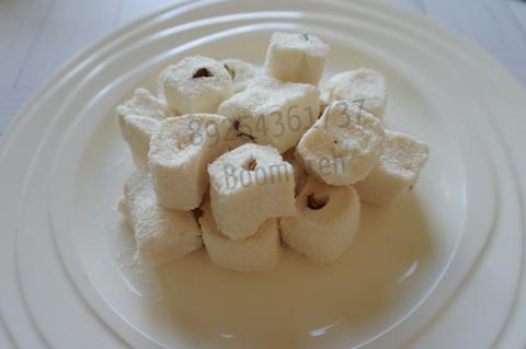 Лукум-нуга (сливочный в кокосовой стружке с миндалем )