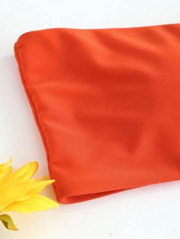купальник бандо раздельный оранжевый радуга Orange-Rainbow 3