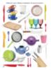 """Рабочий блокнот №3 для детей 2-5 лет """"Мебель и посуда""""."""