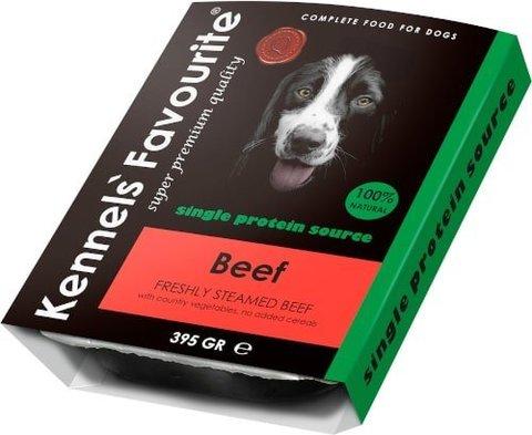 Kennels` Favourite 100% Beef Свежепареное мясо с говядиной 395 гр.