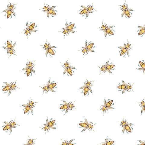 Золотые пчелы на белом фоне