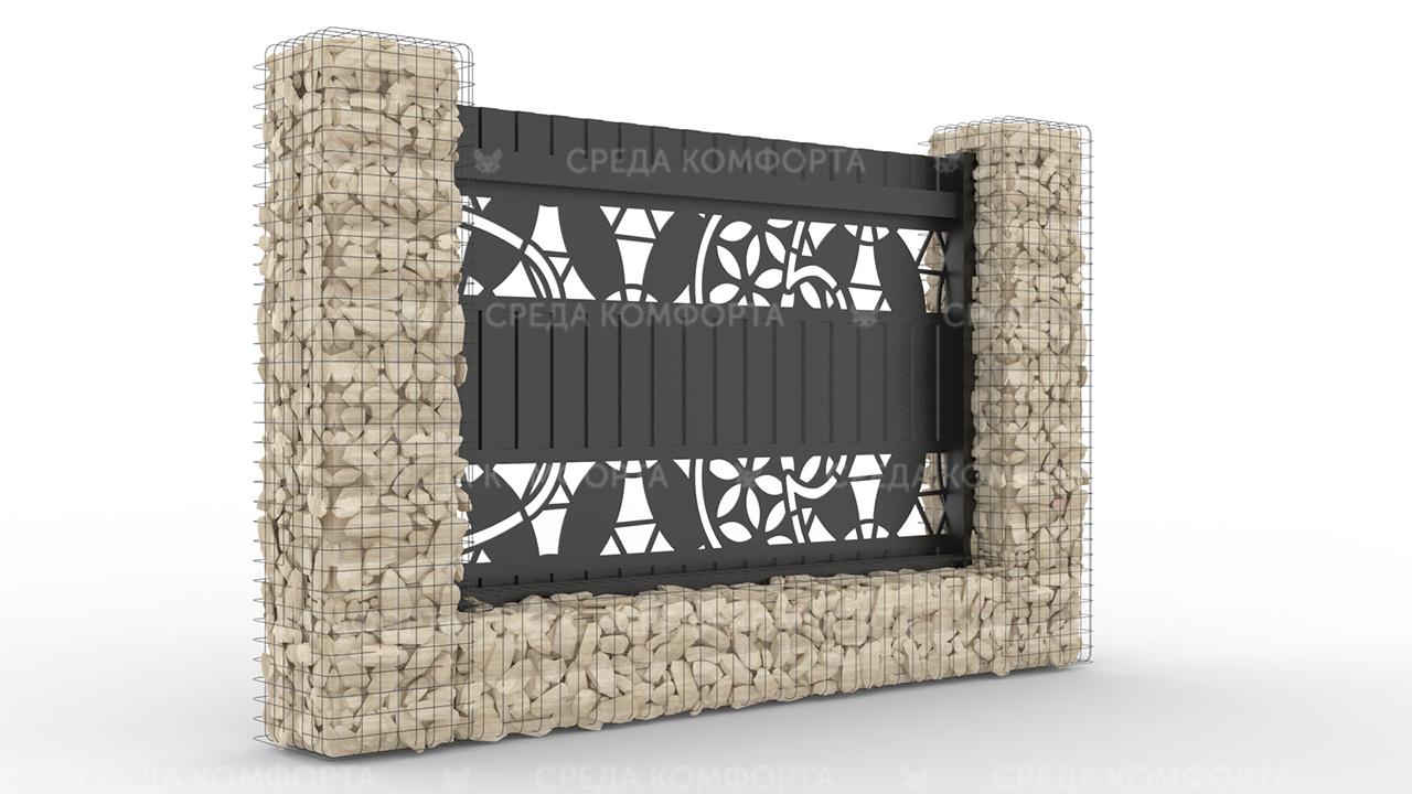 Забор из профлиста 2500х2000 мм ZBR0033 (ворота)