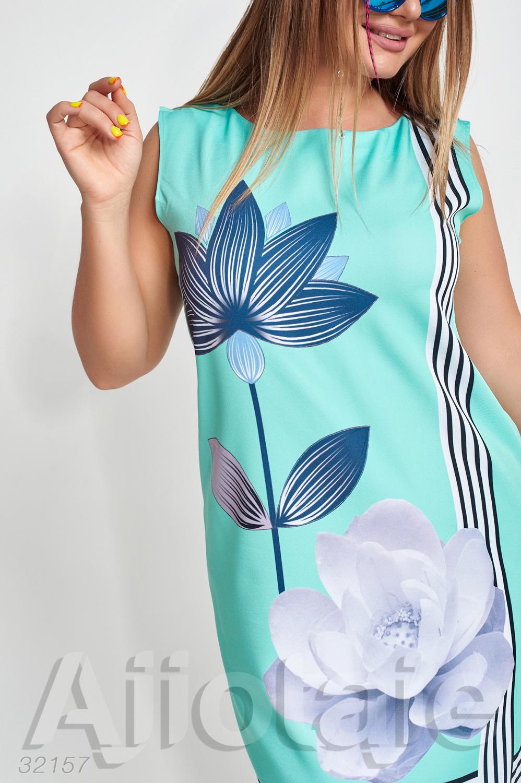 Платье миди с нежным цветком лотоса
