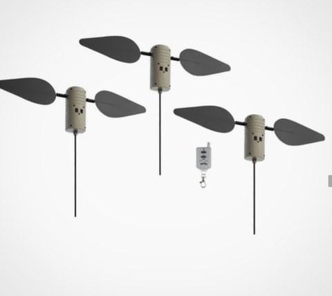 Комплект из 3-х активных механических приманок для высадки на сушу/воду Lucky Duck Field Flasher c пультом д/у