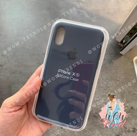 Чехол iPhone XR Silicone Case Full /midnight blue/ темно-синий