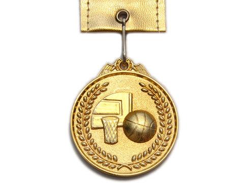 Медаль спортивная с лентой