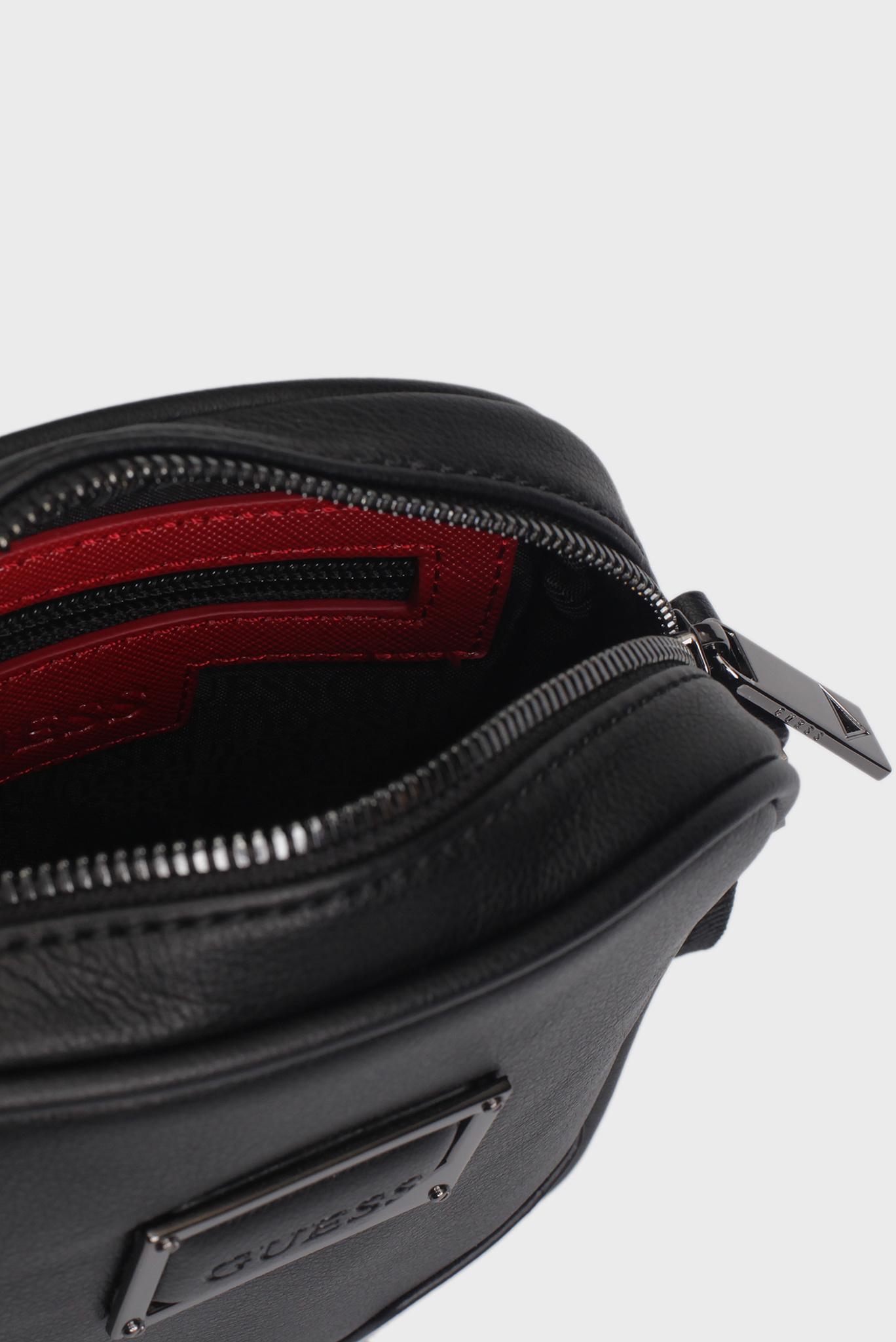 Мужская черная сумка через плечо Guess