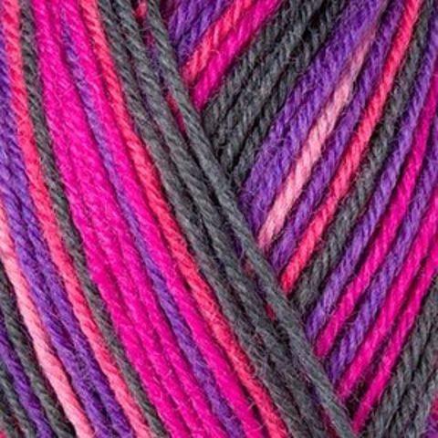Пряжа Schachenmayr Regia 4-fadig Color 01839 красный/розовый/фиолетовый/черный