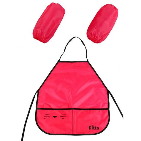 Фартук для труда №1 School Kitty 2 кармана, нарукавники
