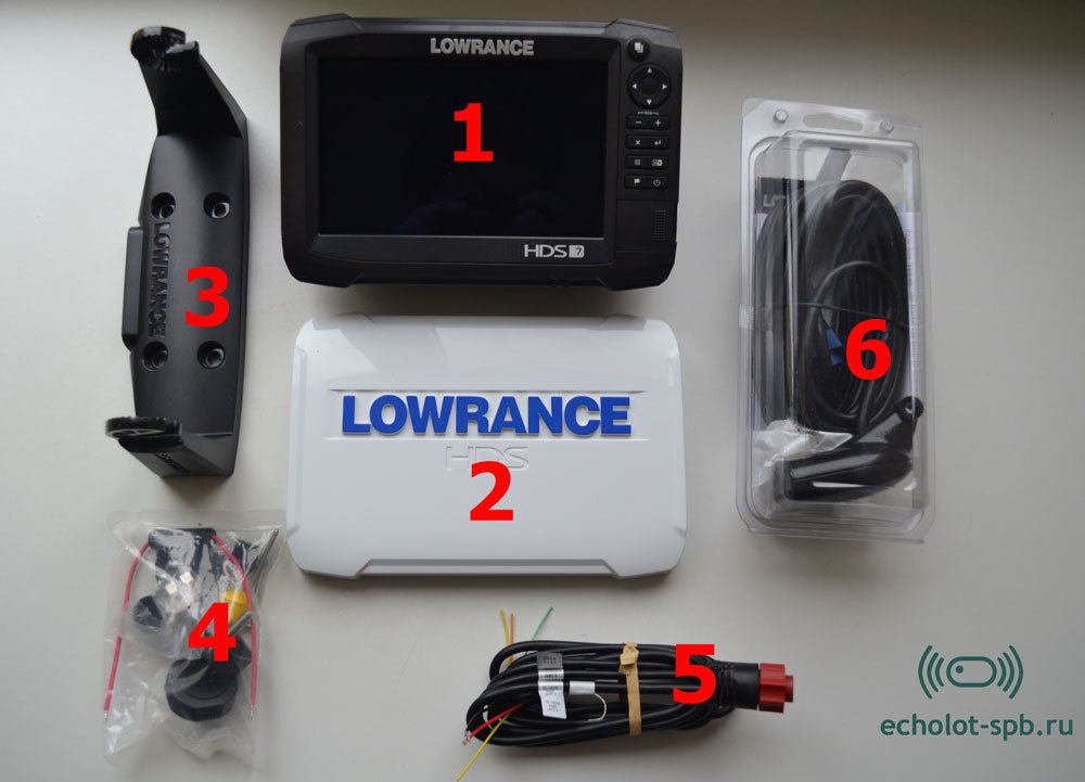 Комплектация Lowrance HDS-7 Carbon с датчиком HST-WSBL