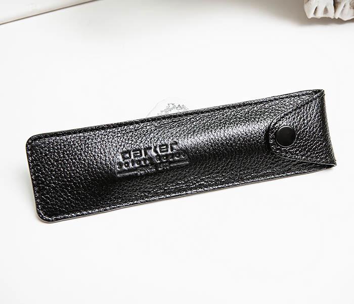 RAZ501-1 Черный кожаный чехол для опасной бритвы «PARKER» фото 04