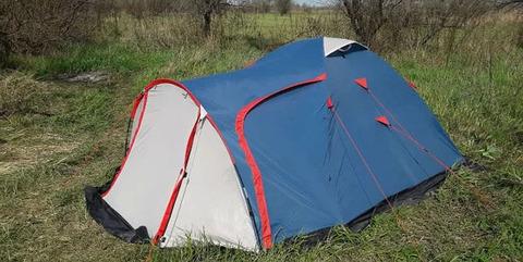 Палатка Canadian Camper RINO 3, цвет royal, вид сбоку.