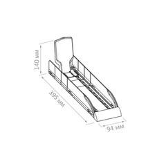 Лоток для выкладки плиточного шоколада пластиковый (140х395х94 мм)