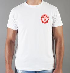 Футболка с принтом FC Manchester United (ФК Манчестер Юнайтед) белая 0016