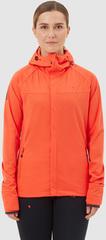 Элитная куртка для лыж и зимнего бега Gri Темп женская оранжевая