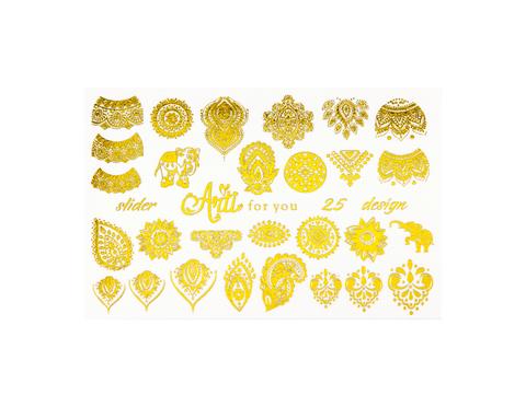 Фольга для дизайна ногтей золото 25 купить за 120руб
