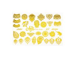 Фольга для дизайна ногтей золото 25