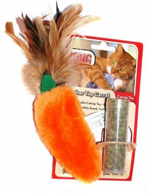 """Игрушки Игрушка для кошек KONG """"Морковь"""" 15 см плюш с тубом кошачьей мяты cdbc604a-3595-11e0-4488-001517e97967.jpg"""