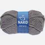 Пряжа Nako Jersey серый 1970