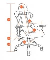 Кресло офисное iGear — черный/красный