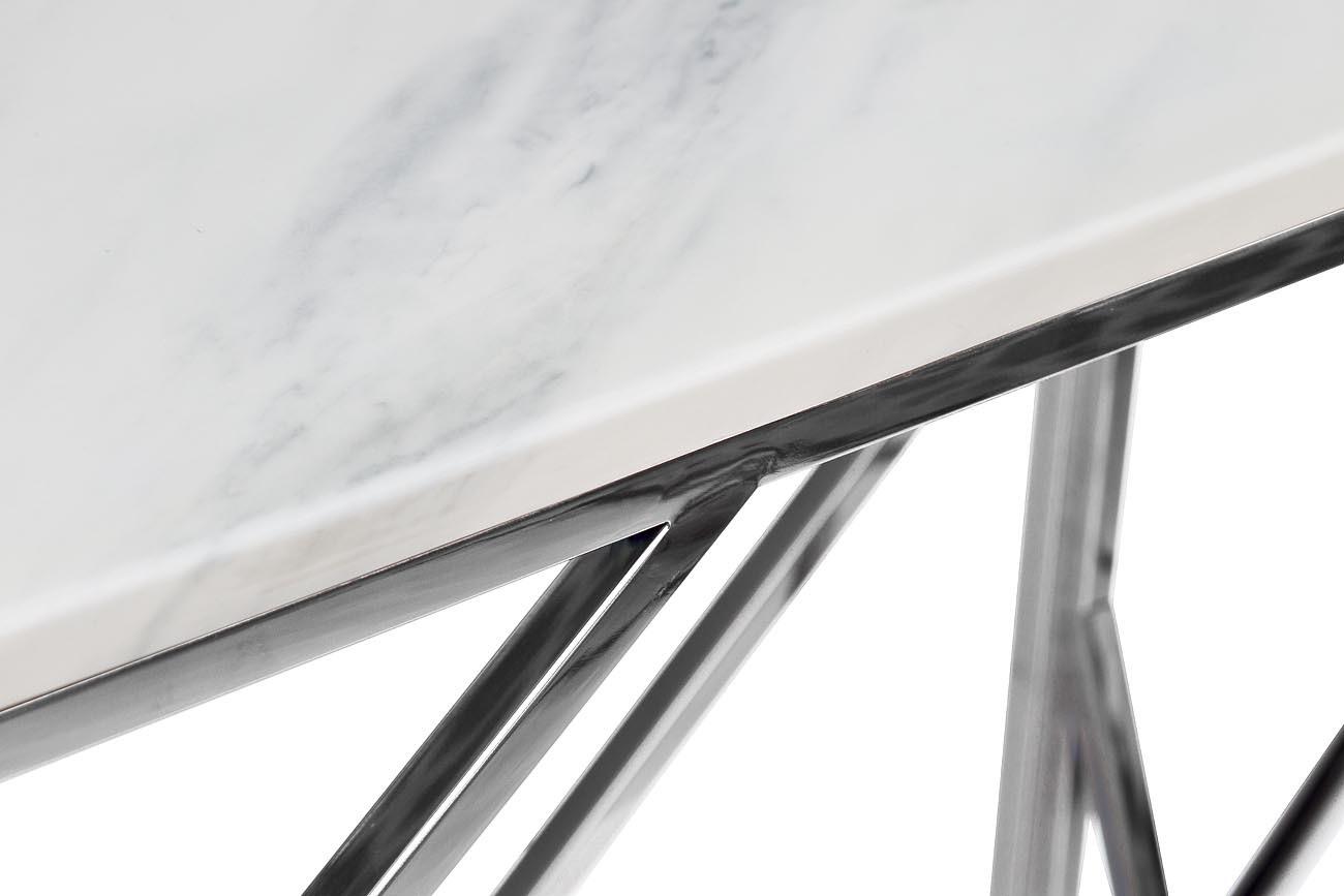Консоль искусственный белый мрамор/темный хром (GY-CST2051214BLSM) Garda Decor