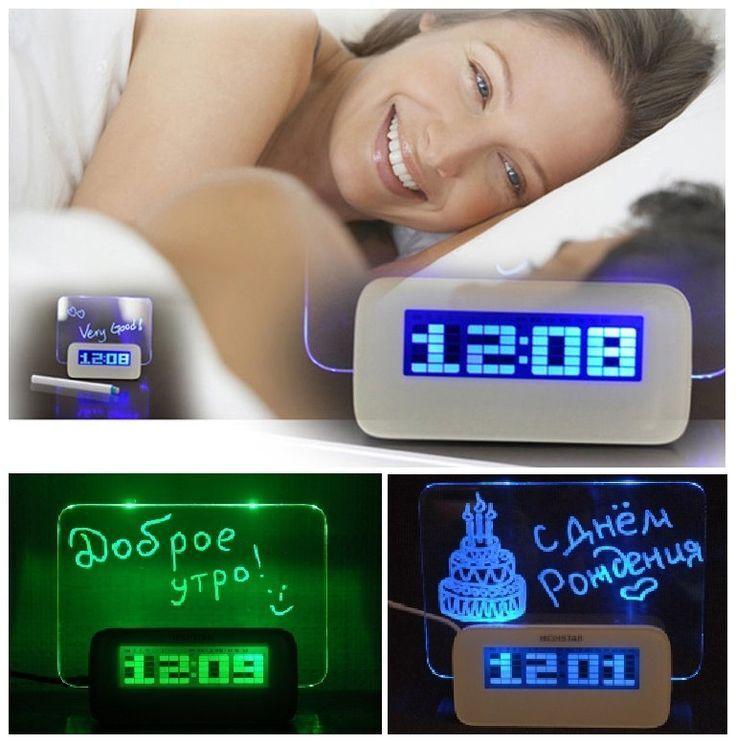 Товары на Маркете Светящиеся часы-будильник с Led доской для записей часы_с_лед_доской.jpg