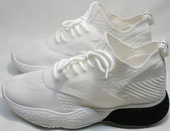 Белые кроссовки на толстой подошве женские El Passo KY-5 White.