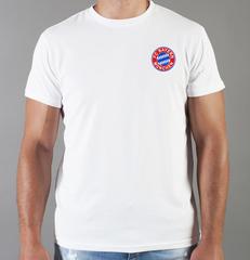 Футболка с принтом FC Bayern Munchen (ФК Бавария) белая 0010