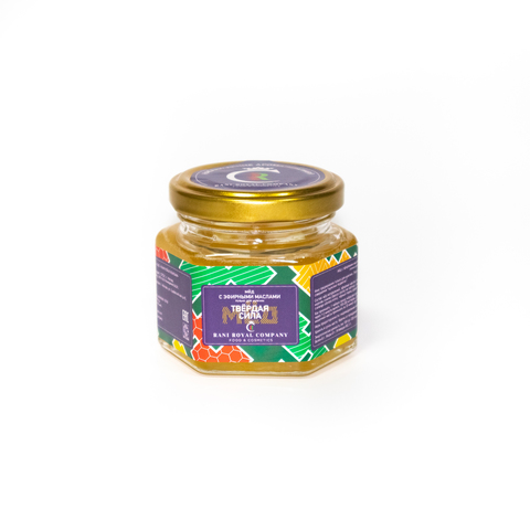 Мёд с эфирными маслами «Твёрдая сила» 120 г