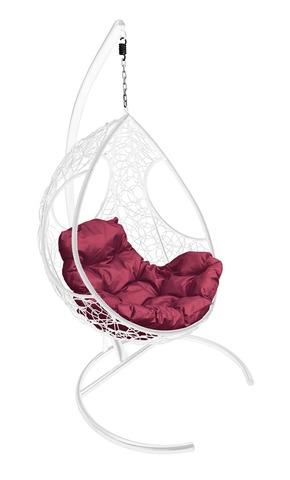 Кресло подвесное Ferrol white/burgundy