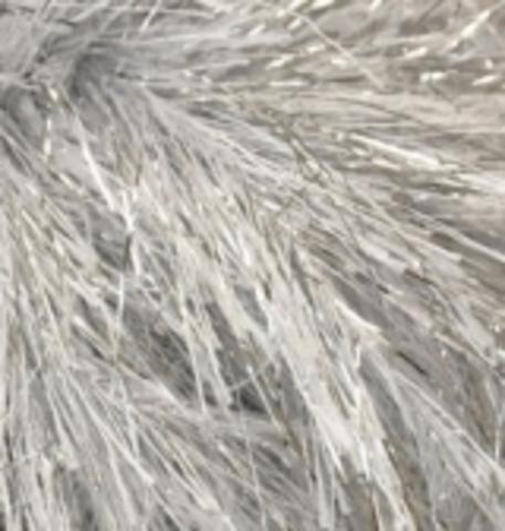 Пряжа Decofur SIM ALIZE 5502 Белый с серебряным люрексом