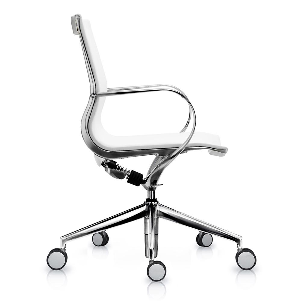 Кресло Mercury LB чисто-белая сетка, матовый алюминий - вид 3