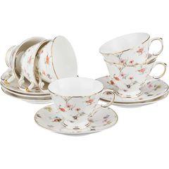 Чайный набор из фарфора на 6 персон 275-800