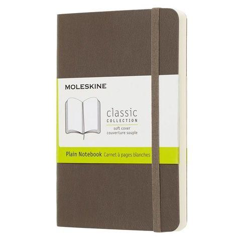 Блокнот Moleskine CLASSIC SOFT QP613P14 Pocket 90x140мм 192стр. нелинованный мягкая обложка коричневый