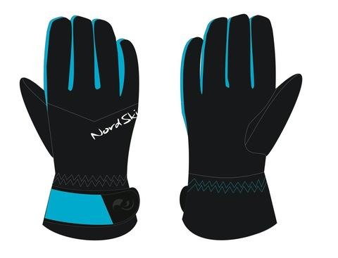 Тёплые лыжные перчатки Black/Aquamarine Membrane женские