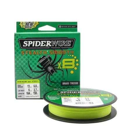 Плетеная леска Spiderwire Stealth Smooth 8 Braid Ярко-желтая 150м 0,07мм 6,0кг