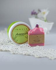 Соляной скраб для тела «Лемонграсс» и мыло «Панакота и кумкват», Россия