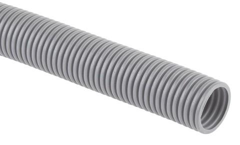 Труба гофрированная ПВХ (серый) d16мм с зонд.легкая 10м