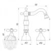 Смеситель для биде на 3 отв. Migliore Princeton Plus ML.PRP-8025 схема