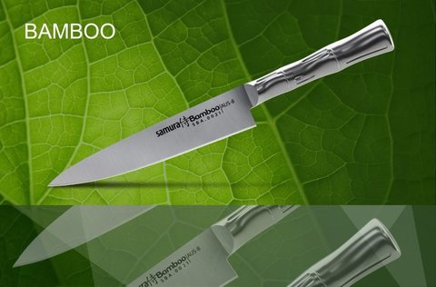SBA-0023 Нож кухонный стальной универсальный SAMURA BAMBOO