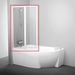 Шторка на борт ванны складная 170х150 см левая Ravak Rosa VSK2 170 L 76LB010041 фото