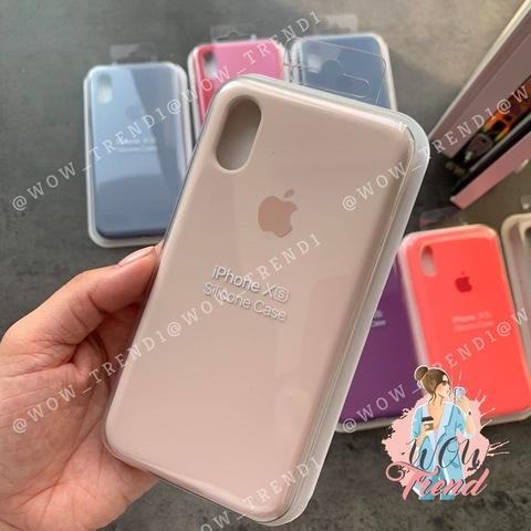 Чехол iPhone XR Silicone Case Full /pink sand/ розовый песок