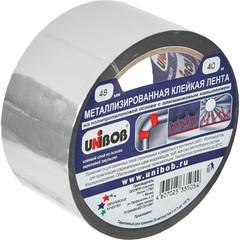Клейкая лента металлизированная Unibob серая 48 мм x 40 м толщина 50 мкм