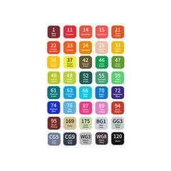 Набор двусторонних спиртовых маркеров TouchMark