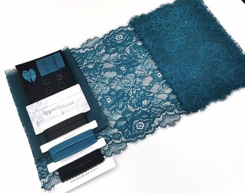Набор 1. Минимальный: для пошива бра без каркасов и трусиков. Черный и сосна, EK-2159