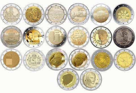 Набор из 20 монет 2 евро 2019 года