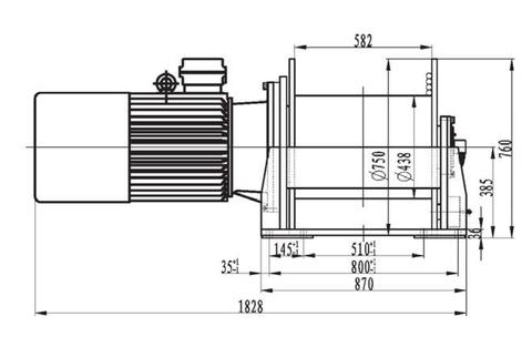 Компактная электрическая лебедка IDJ344-80-150-24